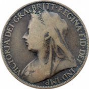 1895 to 1901 Penny Victoria Grades From Fair to Fine